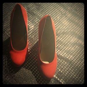 """💕Exquisite Unisa sz 7 orange 4"""" heels"""